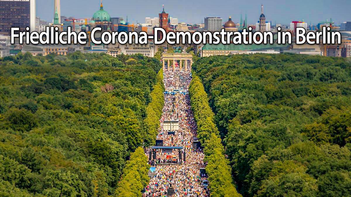Friedliche Corona-Demonstration in Berlin